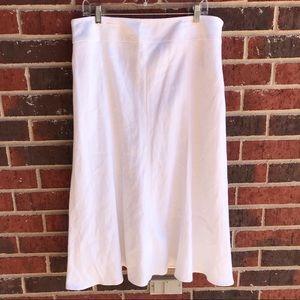 Talbots White Skirt